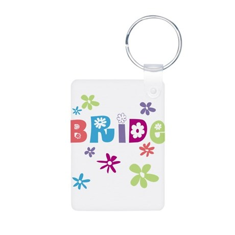Happy Bride Aluminum Photo Keychain