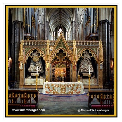 Westminster Abbey Print Poster