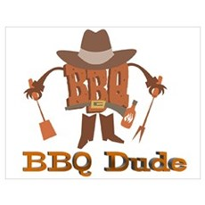 BBQ Dude Dad Poster
