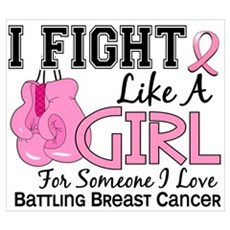 Fight Like A Girl Breast Cancer Framed Print