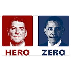 Obama Hero or Zero Poster