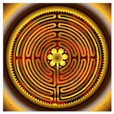 Chartres Labyrinth Fire Poster