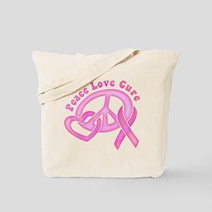 Peace Love Cure Tote Bag
