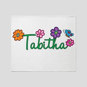 Tabitha Flowers Throw Blanket
