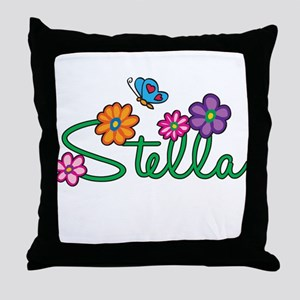 Stella Flowers Throw Pillow