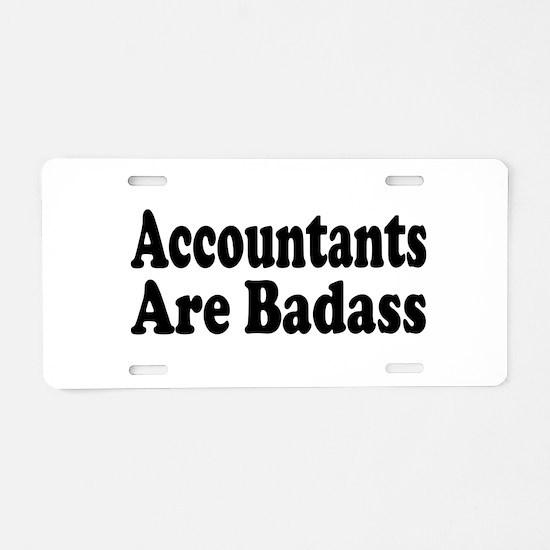 Cute Accountant Aluminum License Plate