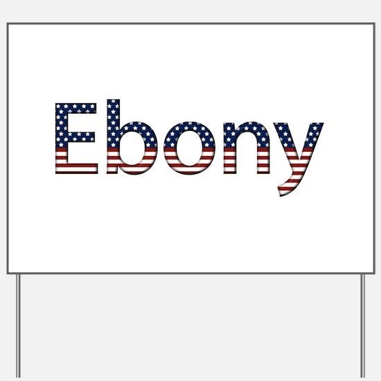 Ebony Stars and Stripes Yard Sign