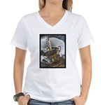 Sippin From The Saucer Women's V-Neck T-Shirt