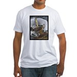 Sippin From The Saucer Fitted T-Shirt