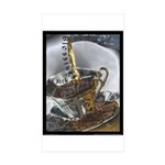Sippin From The Saucer Sticker (Rectangle 10 pk)