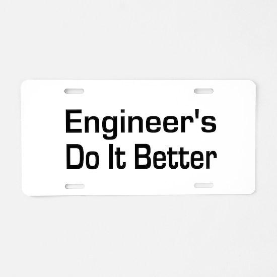 Cute Civil engineer Aluminum License Plate