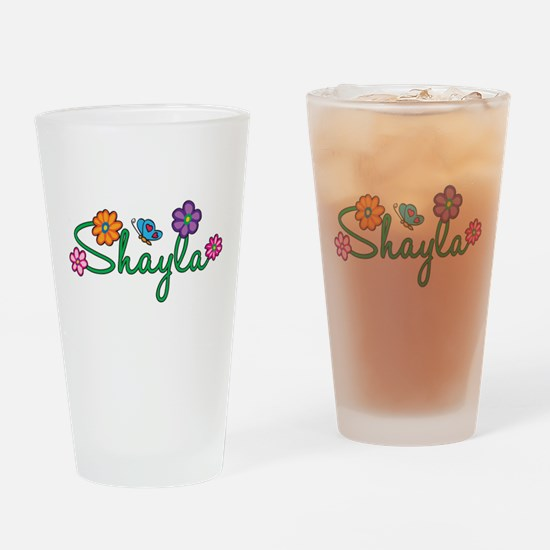 Shayla Flowers Drinking Glass