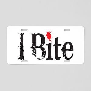 I BIte Aluminum License Plate