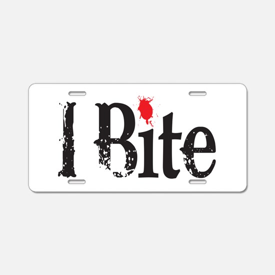 I BIte Aluminum License Plate