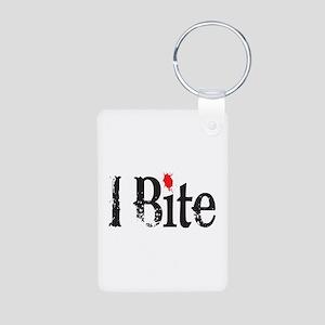 I BIte Aluminum Photo Keychain