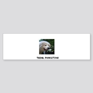 Think Pawsitive! Sticker (Bumper)
