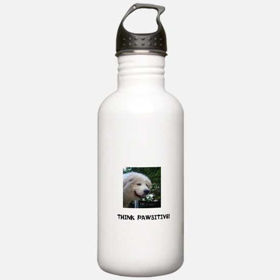 Think Pawsitive! Water Bottle
