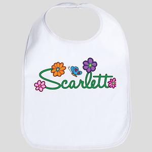 Scarlett Flowers Bib
