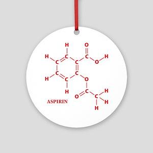 Aspirin Molecule Ornament (Round)
