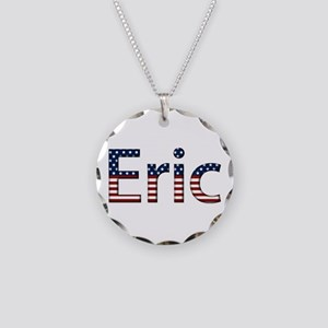 Eric Stars and Stripes Necklace Circle Charm