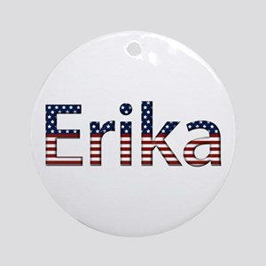 Erika Stars and Stripes Round Ornament
