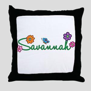 Savannah Flowers Throw Pillow