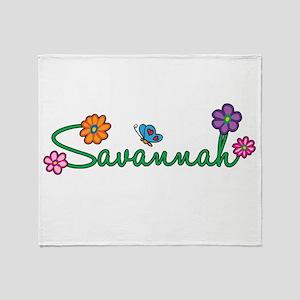 Savannah Flowers Throw Blanket