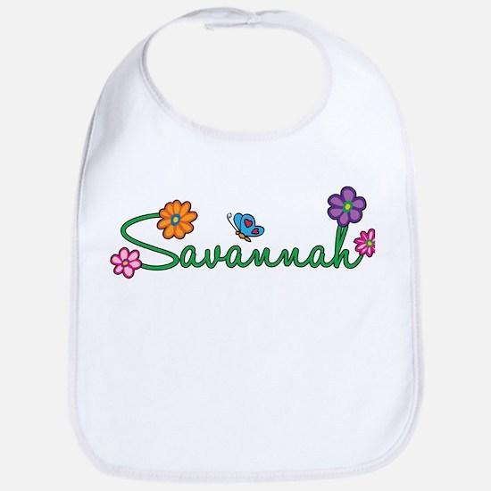 Savannah Flowers Bib