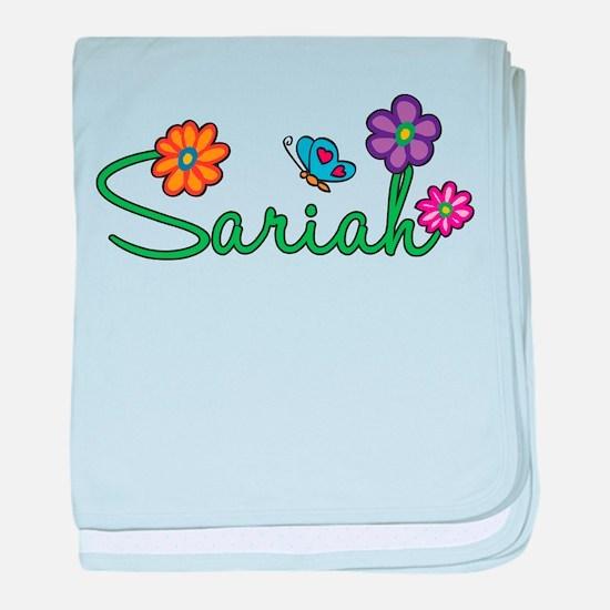 Sariah Flowers baby blanket