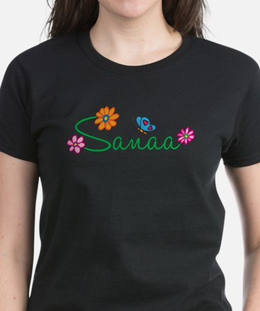 Sanaa Flowers Women's Dark T-Shirt