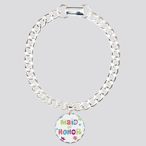 Happy Maid of Honor Charm Bracelet, One Charm