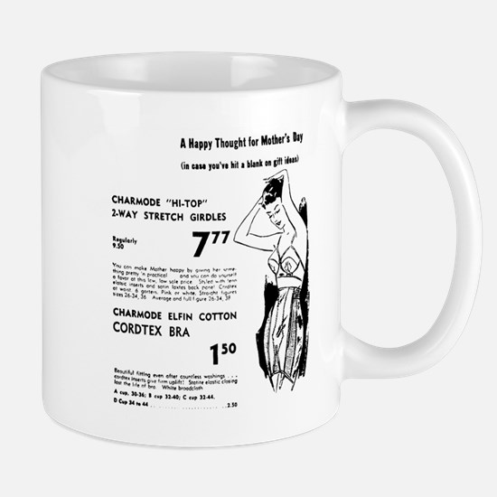 Mother's Day girdles ad 1955 Large Mugs