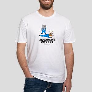 Republicans kick ass -  Fitted T-Shirt