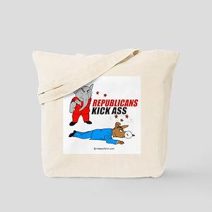 Republicans kick ass -  Tote Bag