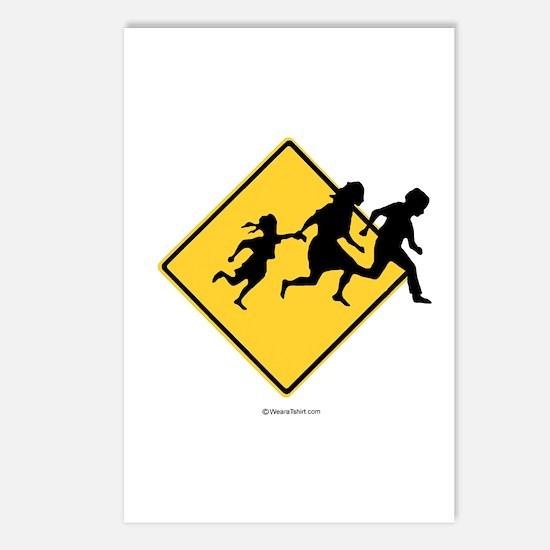 Caution: Illegal Immigrant Crossing -  Postcards (