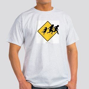 Caution: Illegal Immigrant Crossing -  Ash Grey T-