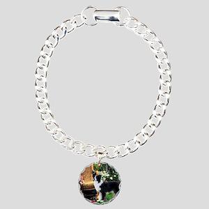Border Collie Art Charm Bracelet, One Charm