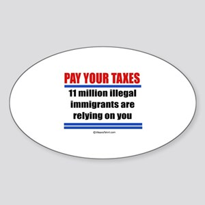 Pay your taxes - Oval Sticker