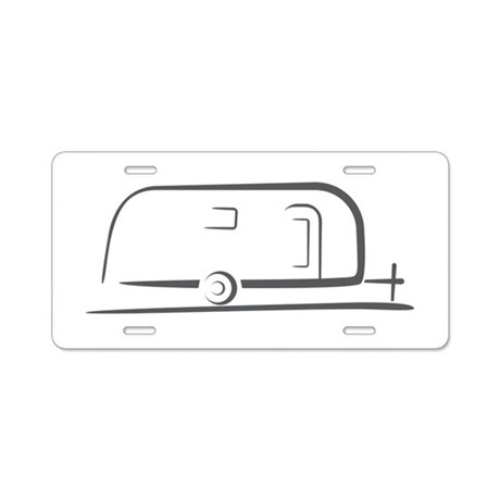 Airstream Silhouette Aluminum License Plate By Vintagetrailers