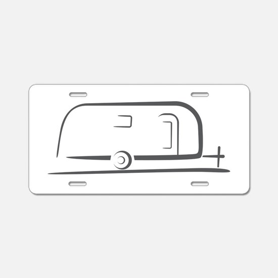 Airstream Silhouette Aluminum License Plate