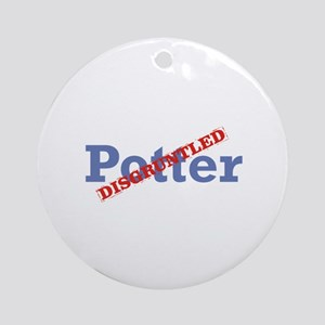 Potter / Disgruntled Ornament (Round)