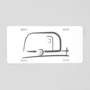 Airstream Silhouette Aluminum License Plate