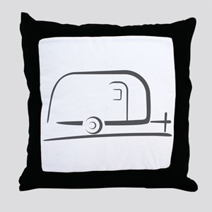 Airstream Silhouette Throw Pillow