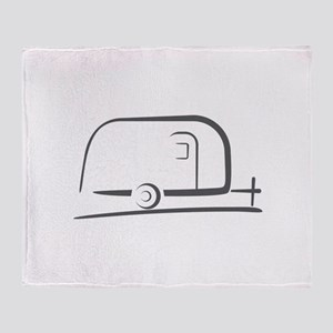 Airstream Silhouette Throw Blanket