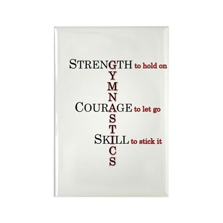 Strength, Courage, Skill Rectangle Magnet