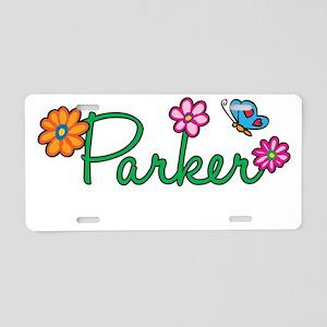 Parker Flowers Aluminum License Plate