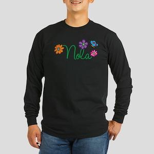 Nola Flowers Long Sleeve Dark T-Shirt