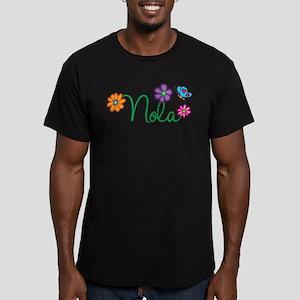Nola Flowers Men's Fitted T-Shirt (dark)