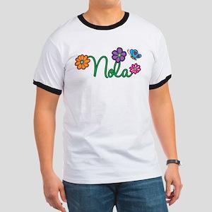 Nola Flowers Ringer T