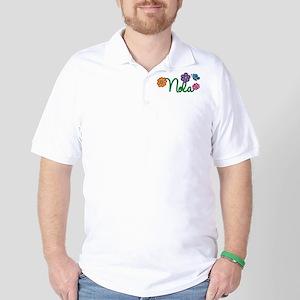 Nola Flowers Golf Shirt